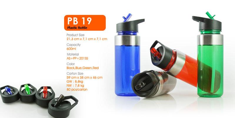 Tumbler Botol Plastik dengan sedotan -  Vizeta | Supplier Merchandise & konveksi Perusahaan Tambang