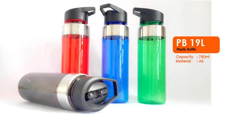 Tumbler Botol Plastik dengan sedotan 750 ml -  Vizeta | Supplier Merchandise & konveksi Perusahaan Tambang