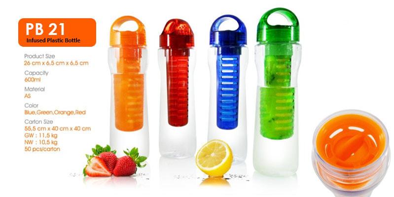Tumbler Botol Plastik Infuse -  Vizeta | Supplier Merchandise & konveksi Perusahaan Tambang