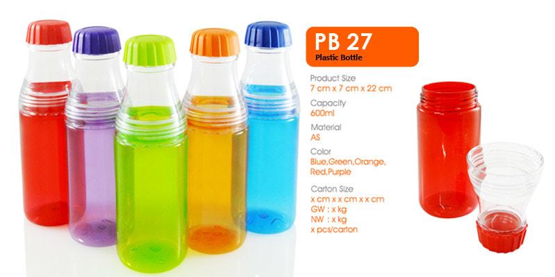Tumbler Botol Plastik 600 ml -  Vizeta | Supplier Merchandise & konveksi Perusahaan Tambang