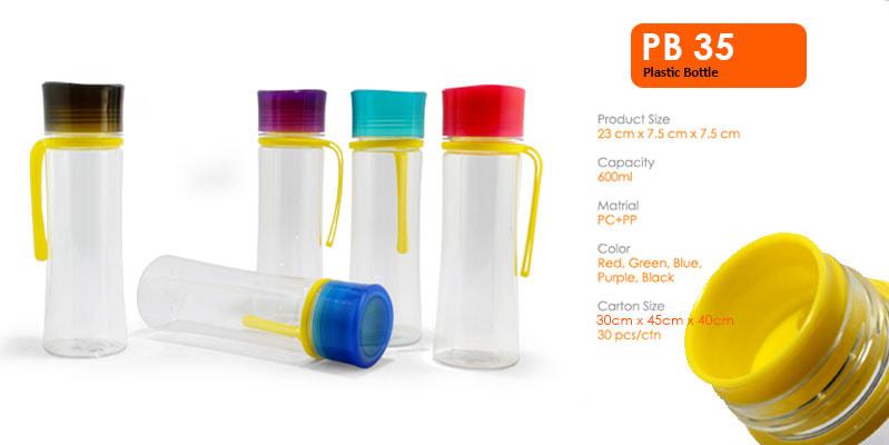 Tumbler Botol Plastik 600ml -  Vizeta | Supplier Merchandise & konveksi Perusahaan Tambang