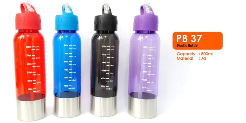 Tumbler Botol Plastik Dengan Sedotan  800ml -  Vizeta | Supplier Merchandise & konveksi Perusahaan Tambang