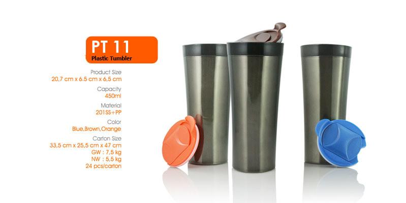 Tumbler Botol Plastik 450 ml -  Vizeta | Supplier Merchandise & konveksi Perusahaan Tambang