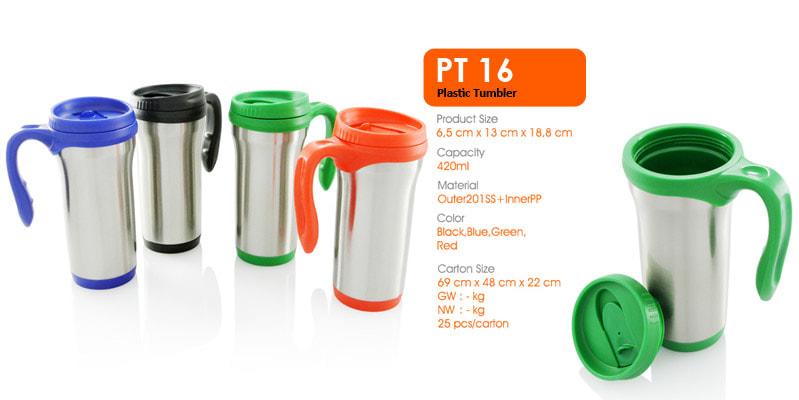 Gelas Tumbler Plastik 420 ml -  Vizeta | Supplier Merchandise & konveksi Perusahaan Tambang