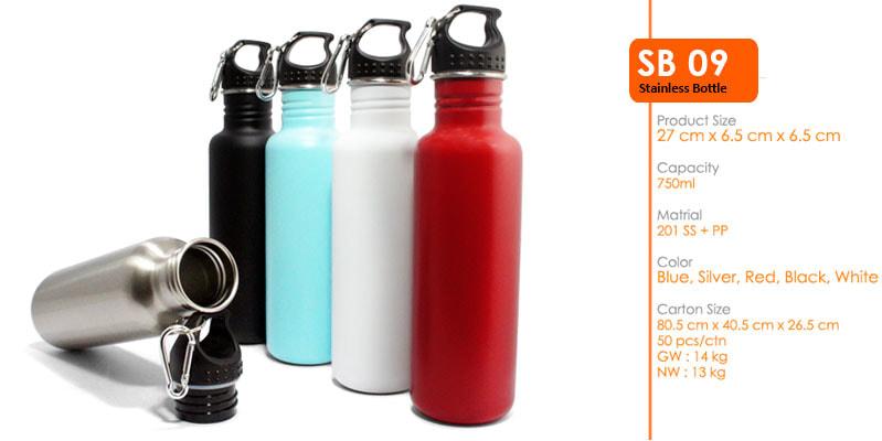 Tumbler Botol Stainless dengan carabiner 750 ml -  Vizeta   Supplier Merchandise & konveksi Perusahaan Tambang