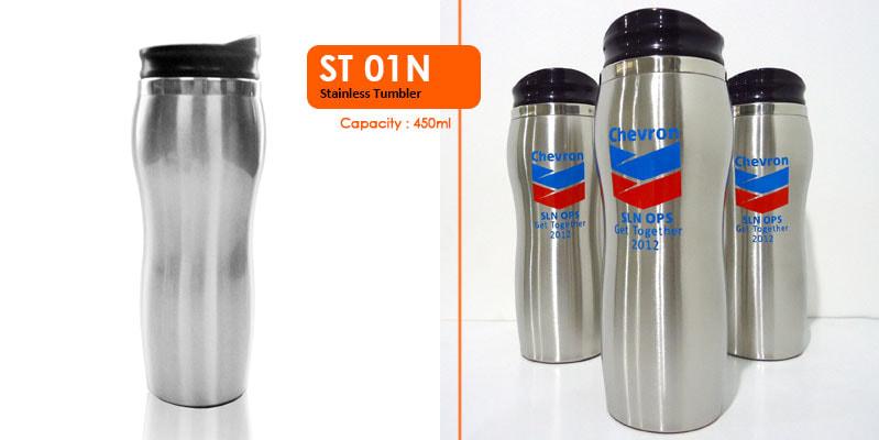 Tumbler Botol Stainless 450 ml -  Vizeta | Supplier Merchandise & konveksi Perusahaan Tambang